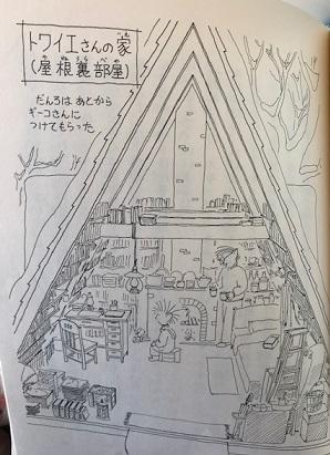 トワイエさんの屋根裏部屋の家