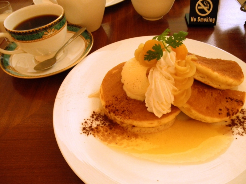 マロンホットケーキ&コーヒー