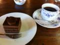 チョコレートケーキ&コーヒー