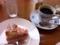 苺シューケーキ&コーヒー