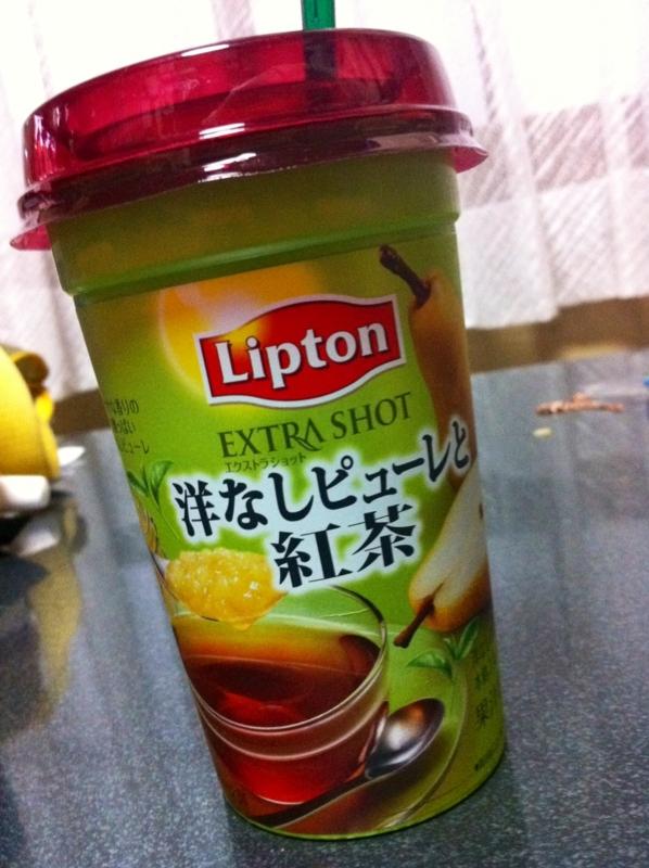 洋なしピューレと紅茶