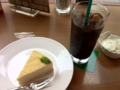 ベイクドレアチーズケーキ&アイスコーヒー