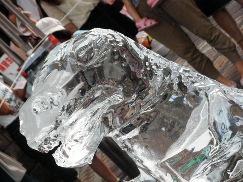 2012/08/03/氷の彫刻「ティラノザウルス」1