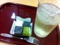 2012/08/05/フローズンキューブケーキ<黒ごま&抹茶>&白ぶどうのソーダ