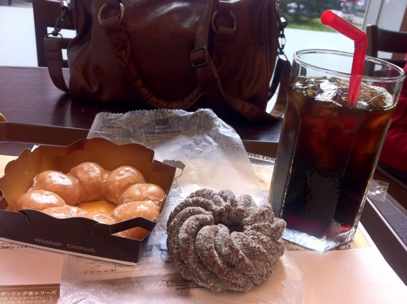 ドーナツ&アイスコーヒー