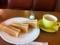 ハムトースト&カフェオレ