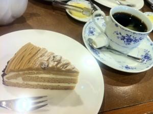 モンブラン&ブレンドコーヒー
