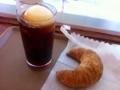 コーヒーフロート&クロワッサン