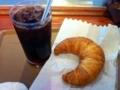 アイスコーヒー&クロワッサン