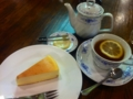ベイクドチーズケーキ&ダージリンティー