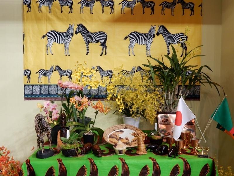 大使・大使館夫人のテーブル・ディスプレイ・ザンビア共和国