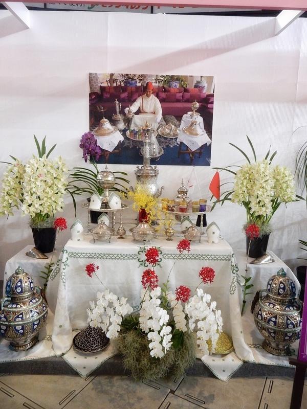 大使・大使館夫人のテーブル・ディスプレイ・モロッコ