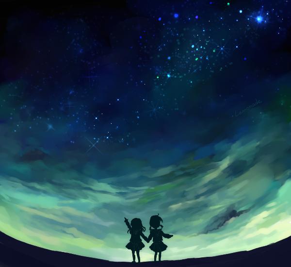 星のきらめき方と色使いがお気に入りです。