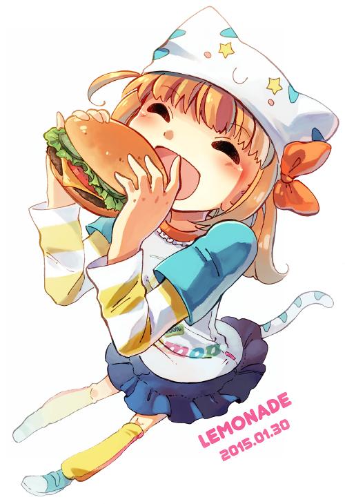 ハンバーガーが割とおいしそうに描けたのではないかと。