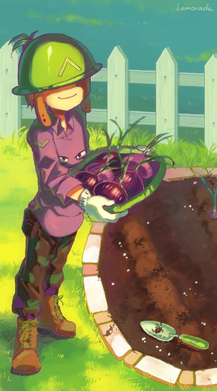 玉ねぎの収穫中です。