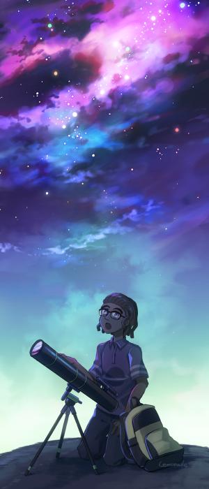 お空を描くのは楽しかったですね。