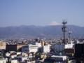 甲府舞鶴城公園より富士を望む