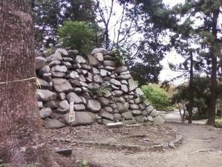 神戸城の石垣