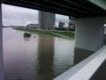 台風15号(2011)豪雨で増水した矢田川02