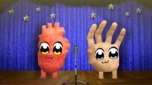 心臓と手、タイちゃん