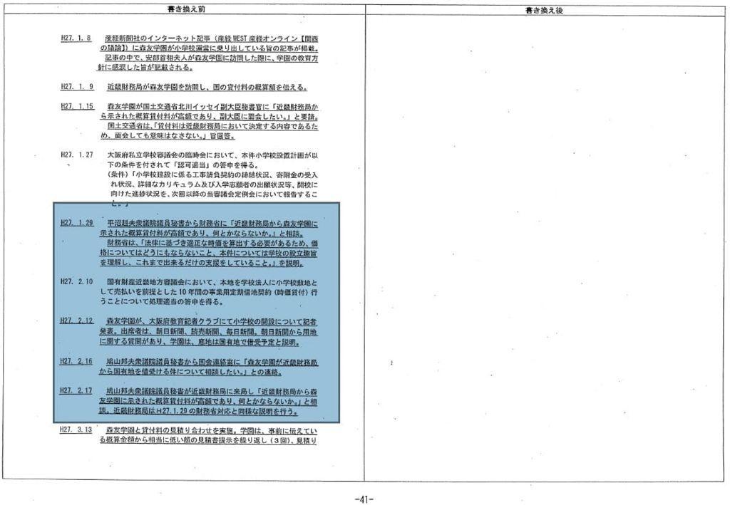 特例承認の決裁文書②平山鳩山議員