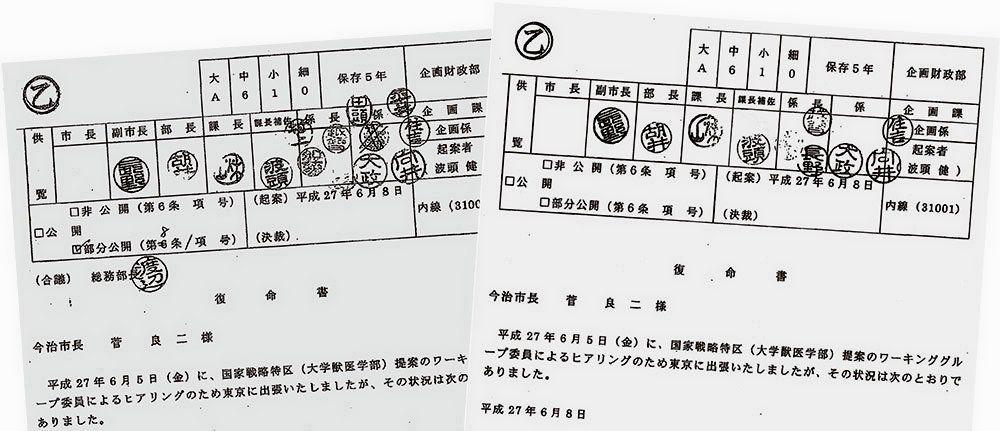 加計学園の公文書書き換え疑惑