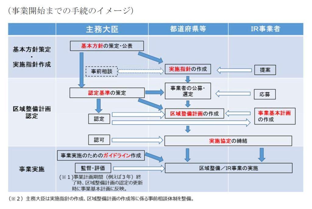 IR事業開始までの手続、プロセス
