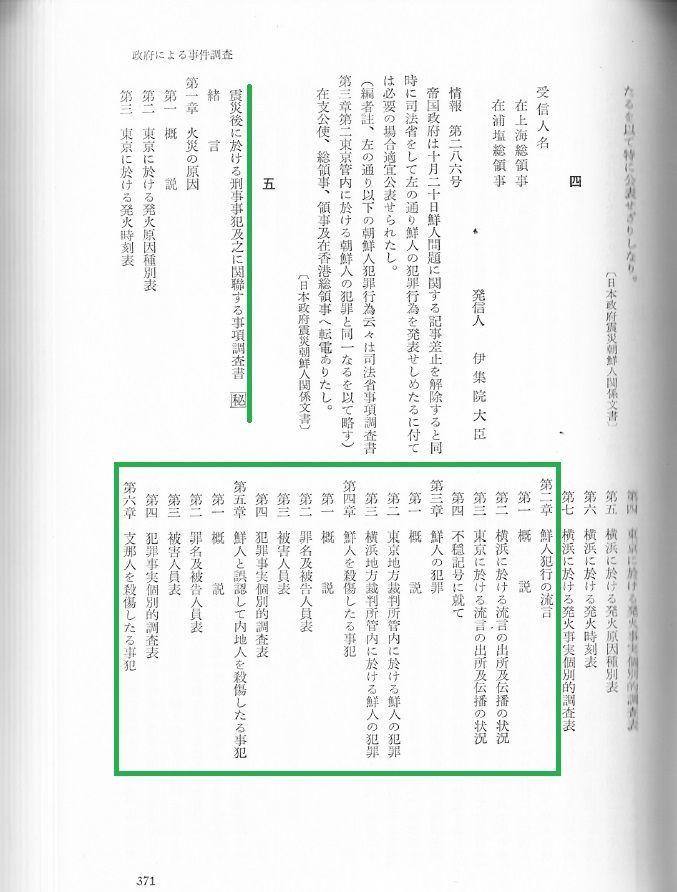 震災後に於ける刑事事犯及之に関連する事項調査書