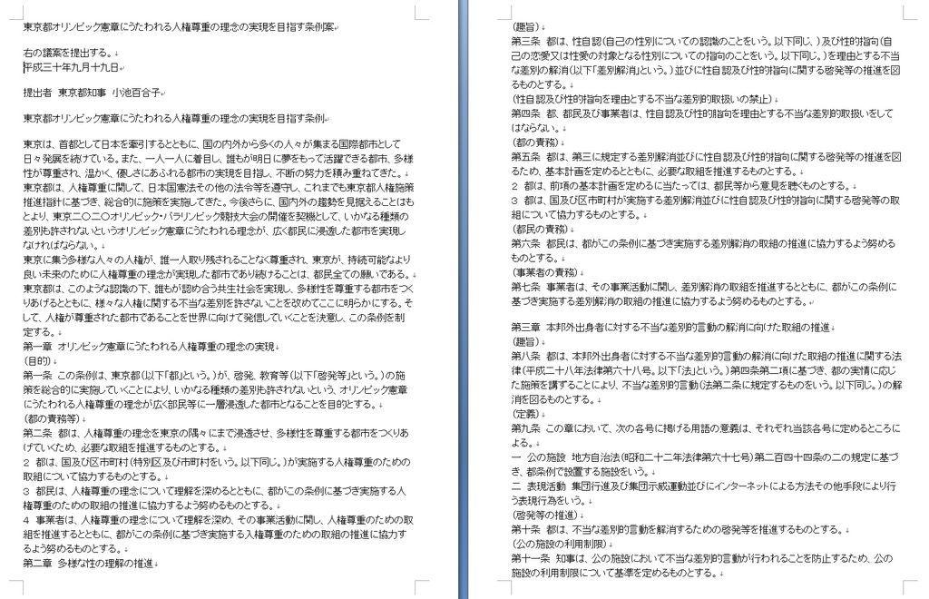 東京都ヘイト規制条例案