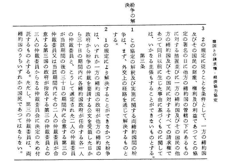 日韓請求権協定全文