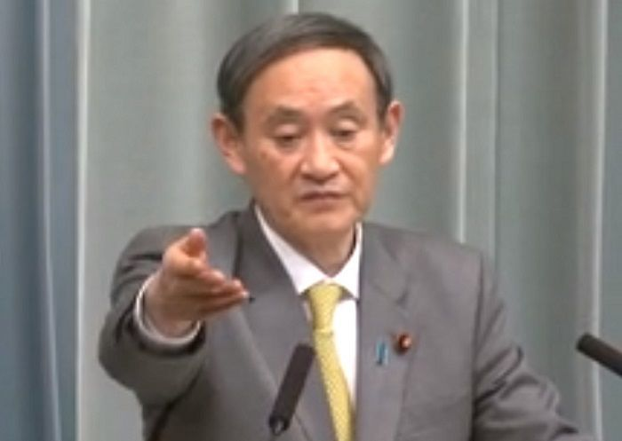 菅官房長官ー内閣官房長官記者会見