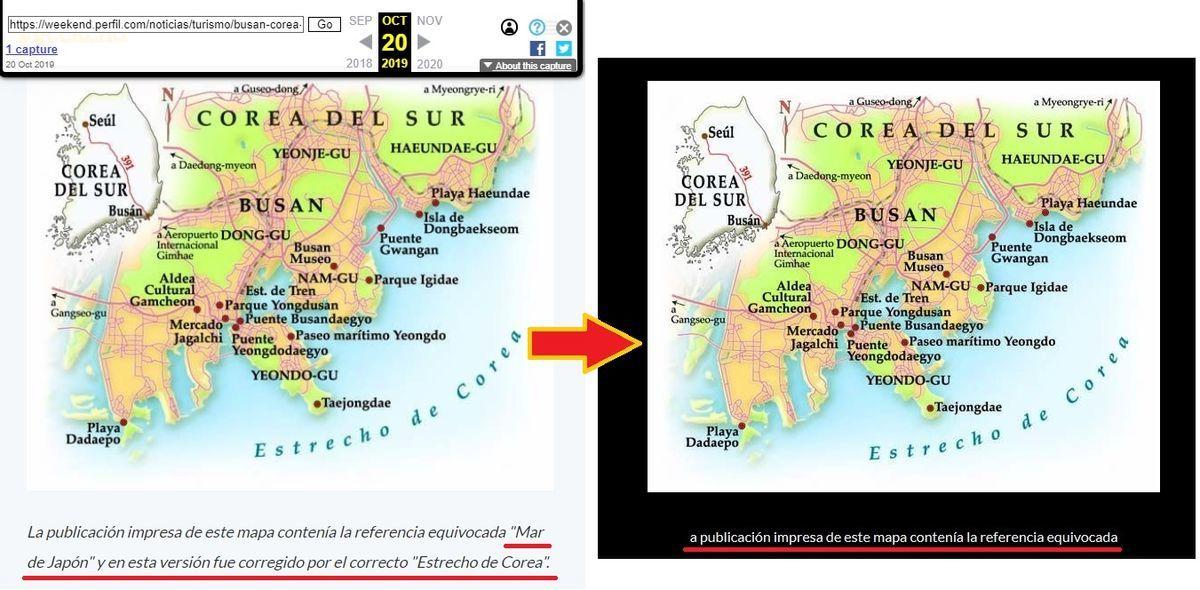 アルゼンチンのウィークエンド誌「日本海表記は誤り」を削除
