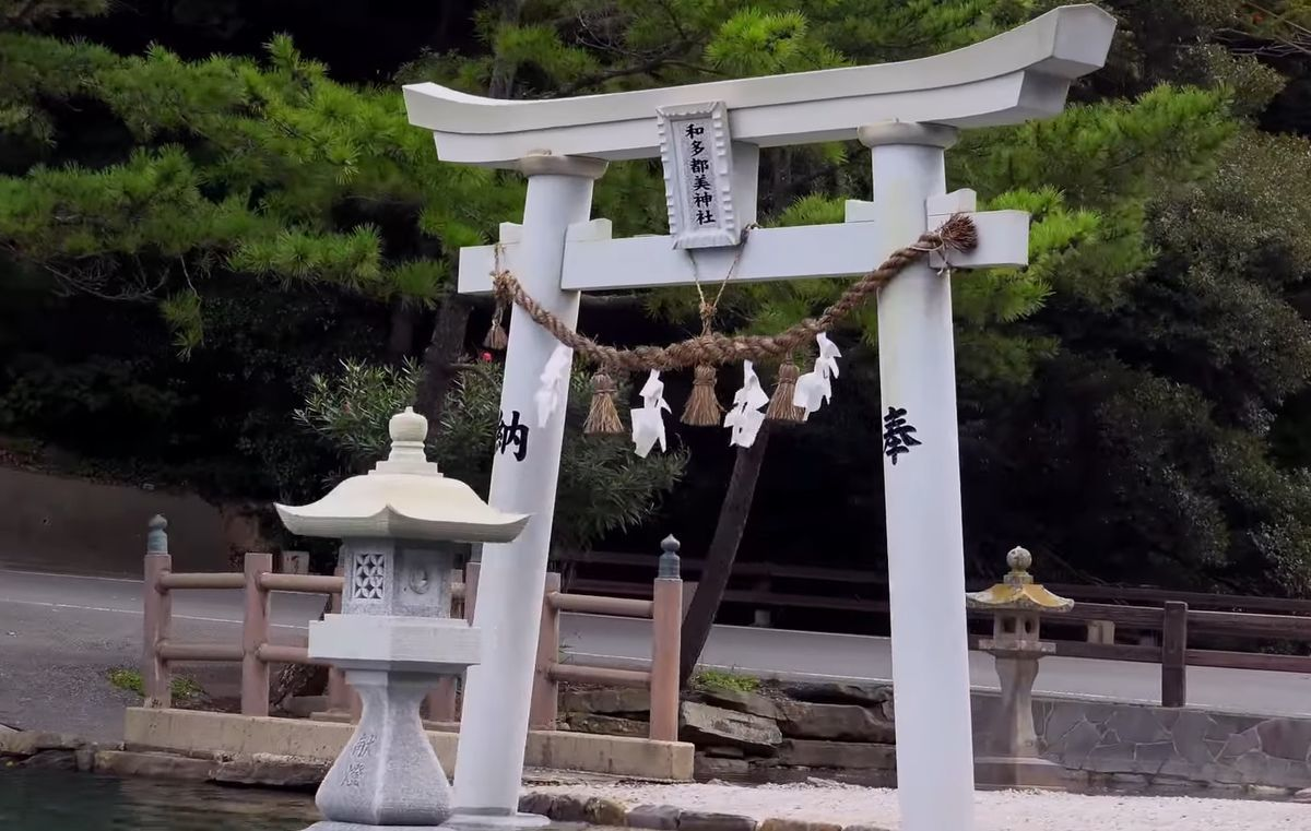 対馬市の和多都美神社で韓国人の立ち入り禁止