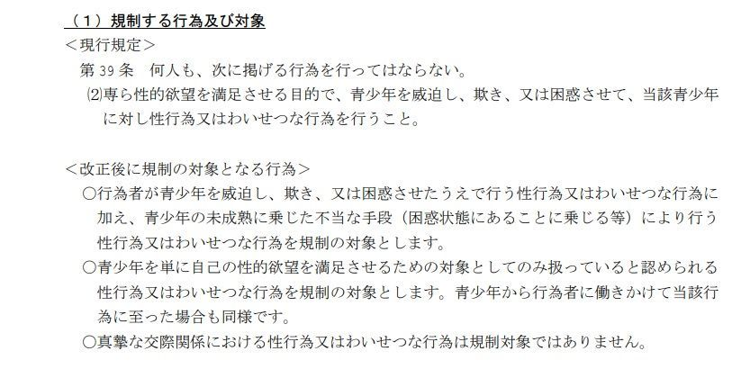 「大阪府青少年健全育成条例の改正案」の概要