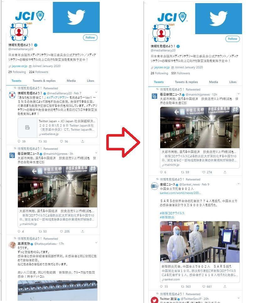 日本青年会議所メディアリテラシーアカウントをTwitter Japan推奨