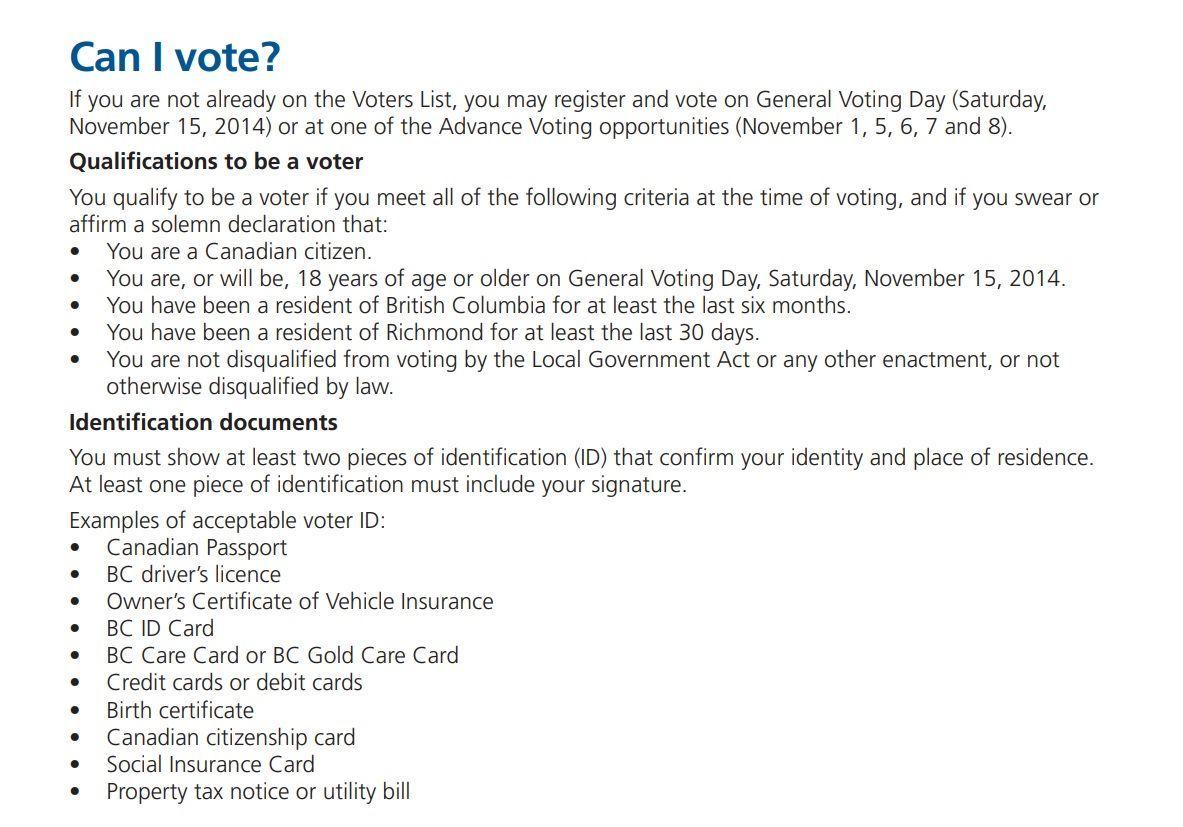 カナダで外国人参政権が認められている?リッチモンド市の選挙資格