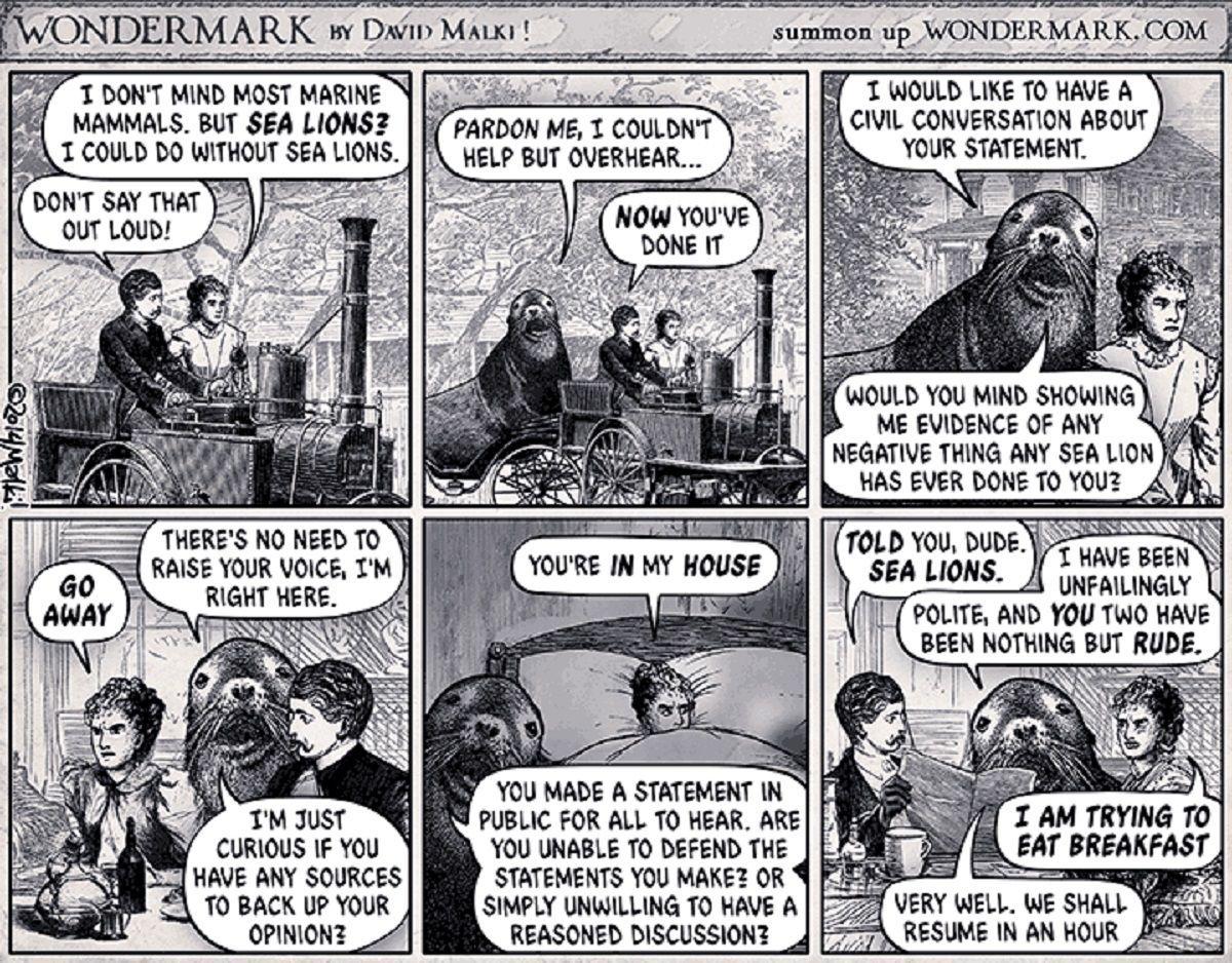 シーライオニングの語源となった元ネタ漫画の和訳