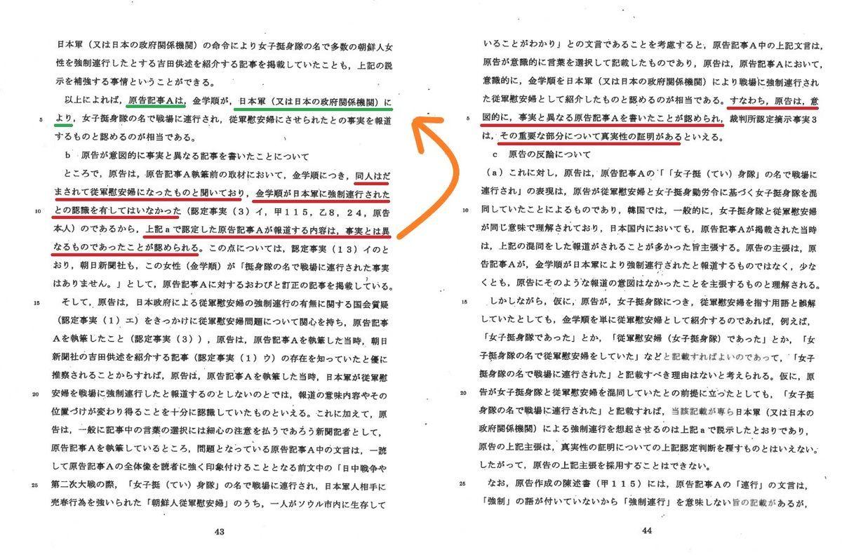 植村隆の捏造を裁判所が認定、日本軍の強制連行も否定