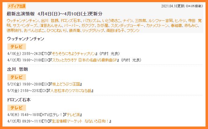 出川哲朗の出演番組、最新出演情報