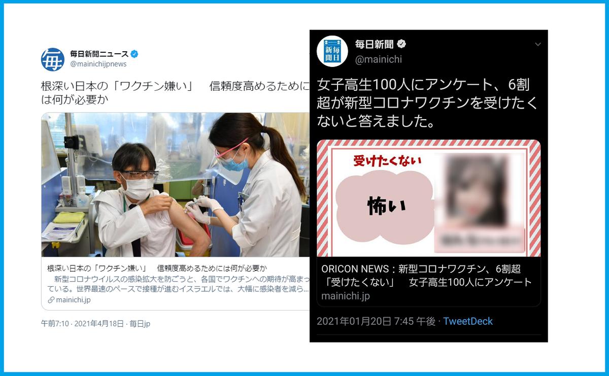 毎日新聞ワクチン