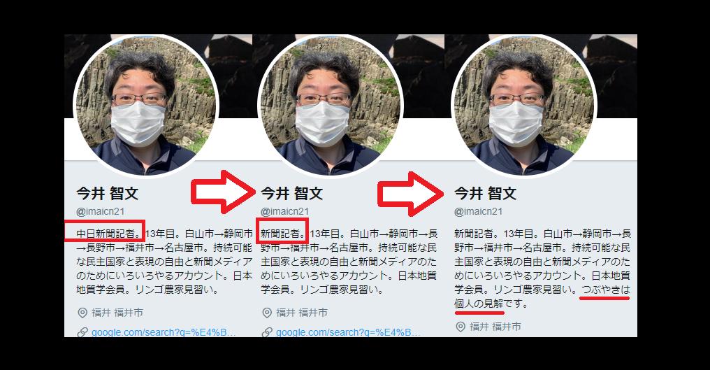 今井智文、中日新聞記者のプロフィール