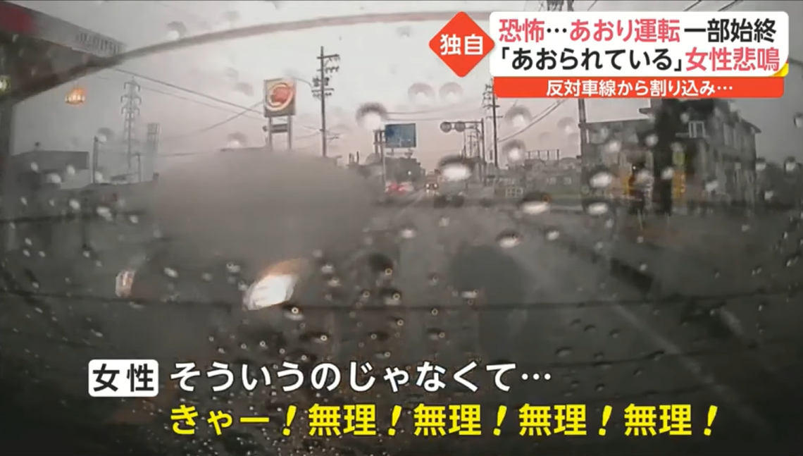 岐阜県大垣市のあおり運転動画が削除