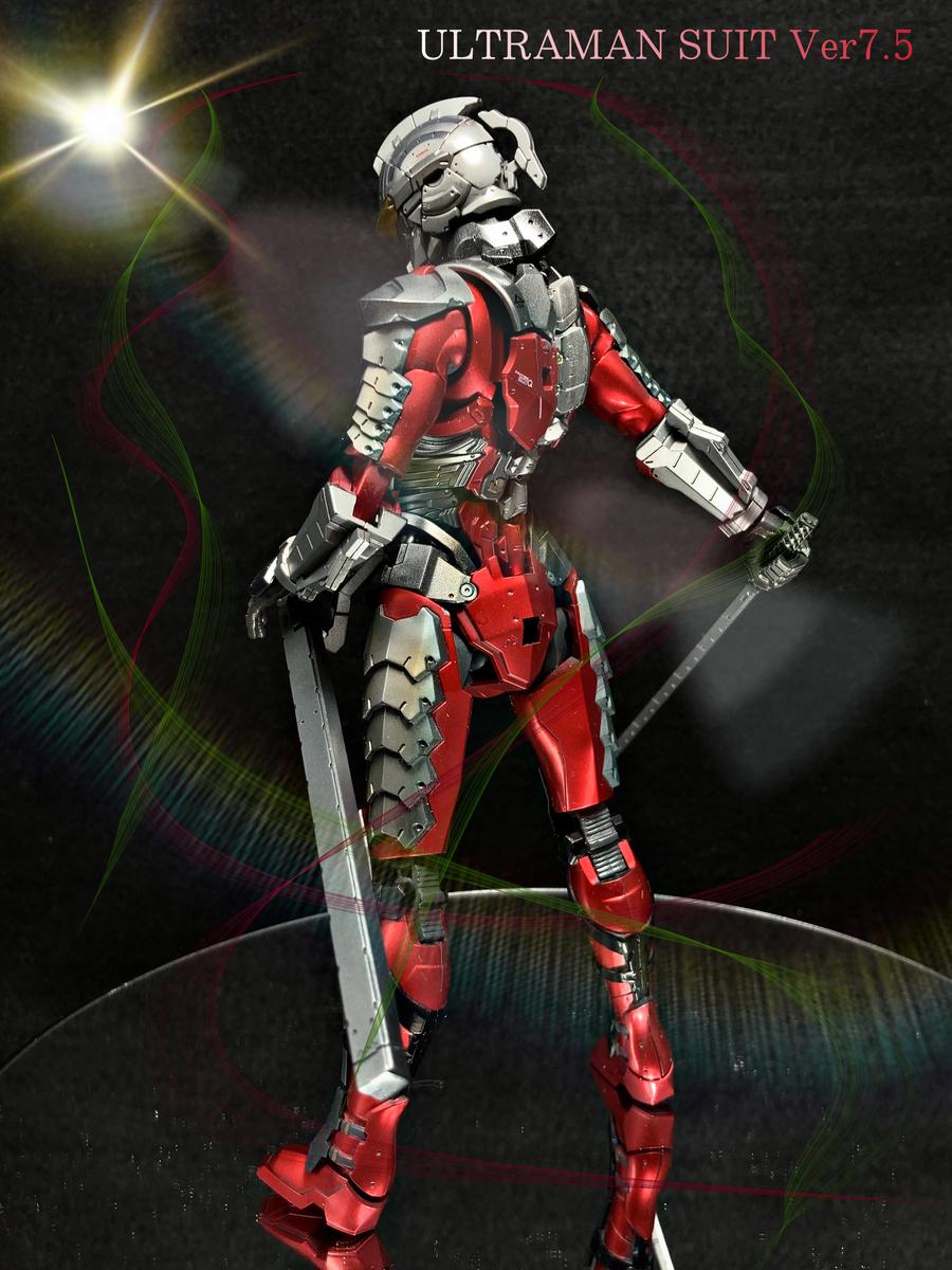 Figure-rise Standard [フィギュアライズ スタンダード] ULTRAMAN SUIT Ver7.5 -ACTION-)全塗装 完成品 プラモデル ウルトラマン