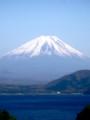 [風景]本栖湖から富士を望む