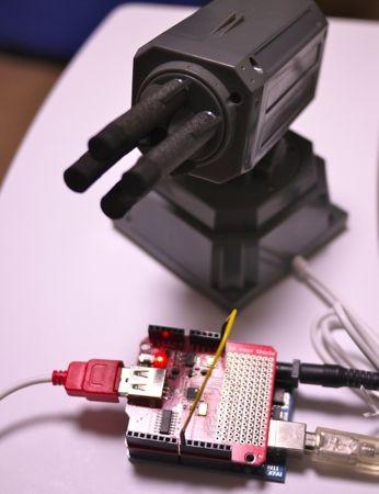 USBホストシールド+ミサイルランチャー