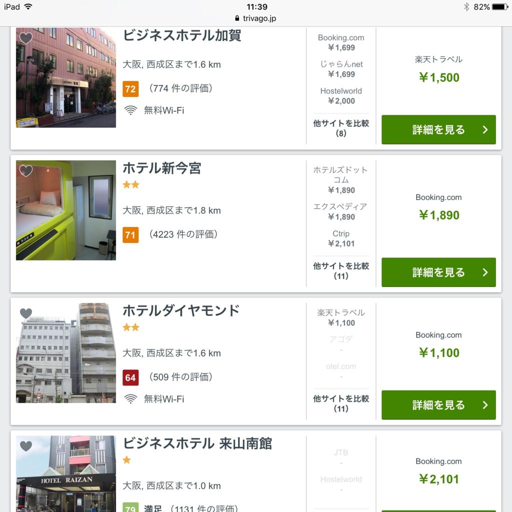 西成の民宿の値段