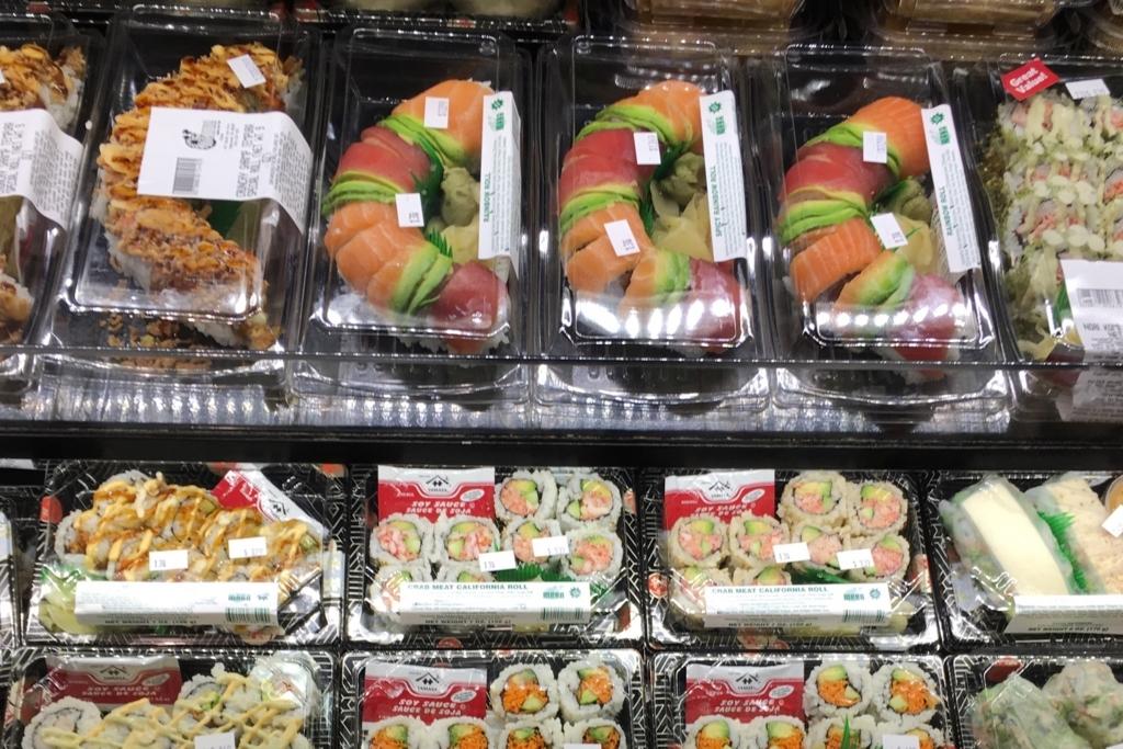 シカゴのスーパーの寿司売り場