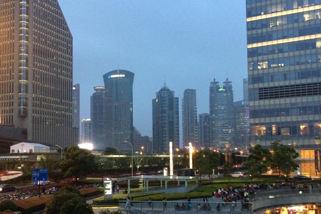 猛烈な経済成長を遂げた上海