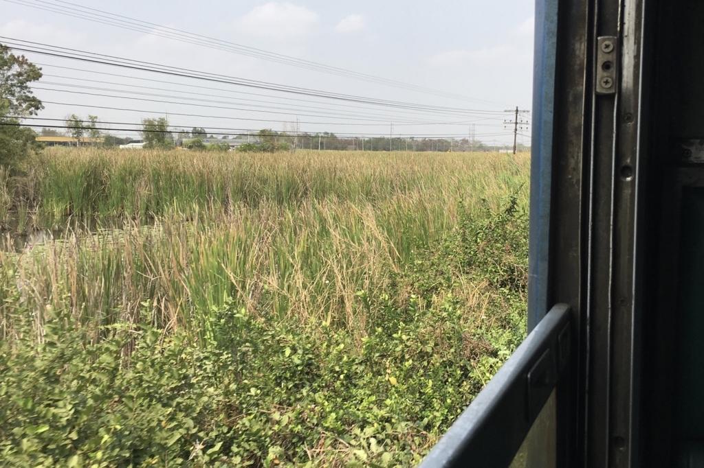 タイの国鉄車窓