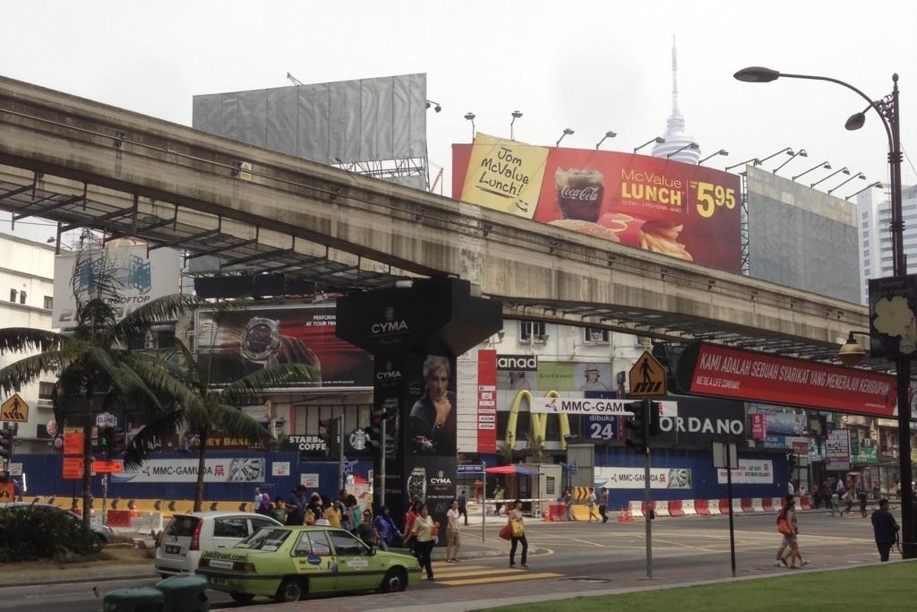 マレーシア・クアラルンプールの繁華街